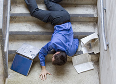 personal injury man falling down stairs